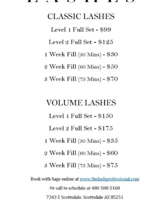 Free Lash Extension Brochure